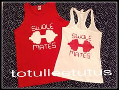 Swole Mate Couples Set Perfect For Work out by TotulleeTutus, $33.00