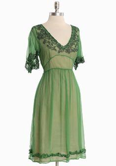 Greenwich Charm Chiffon Dress. Romantic.