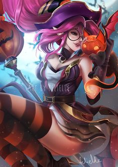 A bit late for Halloween but hope you like it anyways Bewitching Janna Miss Fortune, Fantasy World, Fantasy Art, League Of Legends Talon, Im Poppy, Legend Images, Image Fun, Witch Art, Fan Art