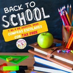 Del 07 al 09 de agosto, se celebra en Florida el Tax Free Weekend, para que puedas realizar las compras escolares de tus hijos para este nuevo año 2020-2021.  Sea que las clases inicien de forma virtual o presencial, aún podemos comprar los útiles escolares sin pagar impuesto.  Si quieres evitar las colas, también puedes ahorrarte el impuesto adquiriendo tus productos por internet. Imagen: Florida Dept. of Revenue.  #miamiconhijos #taxfreeweekend #ahorros #regresoaclases #findesemanataxfree Tax Free Weekend, School Shopping, August 9