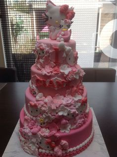 Cake Art!   Hello-Good-Girl Pink  Kitty Cake ~ all edible