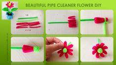 Pipe Cleaner DIY Tutorial - simple flower