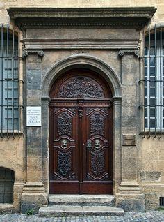The beautifully carved doorway of the Hôtel Estienne de Saint-Jean, now the Musée du Vieil Aix-en-Provence (Museum of Old Aix)