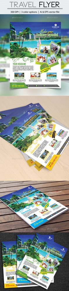#tour #Travel #Flyer #template - #trip #adventure #explore #Holidays #Events #design. download here: https://graphicriver.net/item/travel-flyer/20204733?ref=yinkira