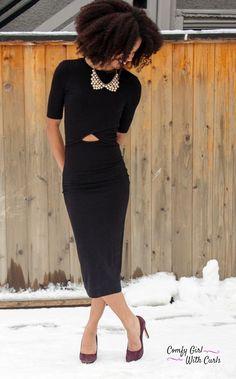 Melanin Fashion | Black Girl Magic | Little Black Dress | Accessories |  Black Beauty | Natural Hair