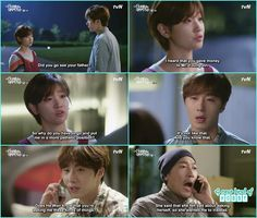 ha won burst out on ji won for lending that ajusshi money and ji won feels a bit off for that ajusshi true self  - Cinderella and Four Knights - Episode 12