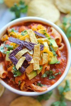 Chicken Tortilla Soup - Damn Delicious