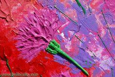 Flower Palette, acrylic Impasto painting - RuthCollis.com