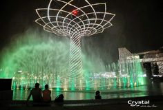 Expo Milano 2015 - Milan, Italy Milan Italy, Fountain, Fair Grounds, Crystals, Building, Travel, Viajes, Buildings, Traveling
