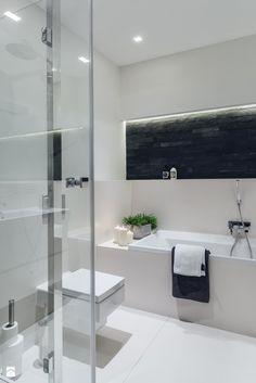 Sea Towers Nordic Apartment | REALIZACJA - Średnia łazienka w bloku bez okna, styl nowoczesny - zdjęcie od GSG STUDIO | interiors & design