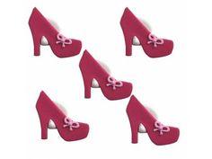 Sukkerpynt høyhælte sko, 5 stk. Mål: 2,5cm. Platform, Heels, Fashion, Heel, Moda, Wedge, Fashion Styles, Shoes High Heels, Fashion Illustrations