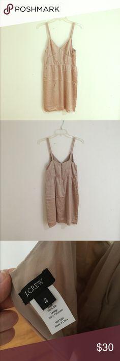 J.Crew silk slip dress Silk slip dress from J.Crew, size 4. Fully lined. Color is a champagne blush. EUC J. Crew Dresses Midi