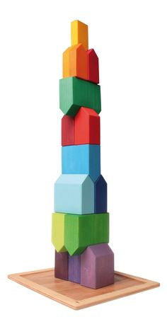 Grimm's Set of Houses Grimm's Houses is a wonderfully versatile stacking and building toy that has endless possibilities.  For the budding architect, b