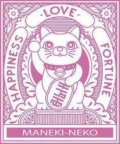 Maneki Neko by Chrivart Maneki Neko, Neko Cat, Kitty Cats, Lucky Cat Tattoo, Japan Art, Cat Drawing, Cultura Pop, Animal Tattoos, Cat Art