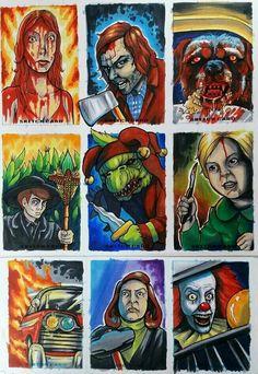 Horror Movie Art : The Films Of Stephen King. Horror Icons, Horror Movie Posters, Horror Films, Real Horror, Horror Show, Arte Horror, Horror Art, Stephen King Novels, Kings Movie