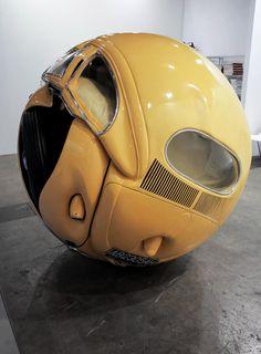 1953 VW Beetle sculpture by Ichwan Noor