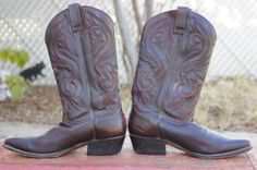 Vintage 80s 90s Cowboy Boots Western Boots by SycamoreVintage