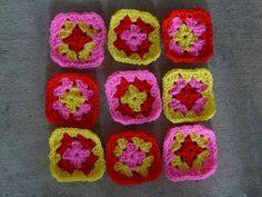 nine granny squares, crochetbug, crochet squares, russian tearoom granny squares