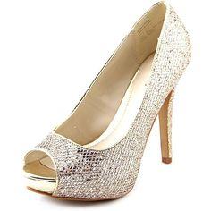 Aldo Nean Women Heels & Pumps ($47) ❤ liked on Polyvore featuring shoes, pumps, gold, metallic heel pumps, patterned shoes, aldo, aldo pumps and print pumps