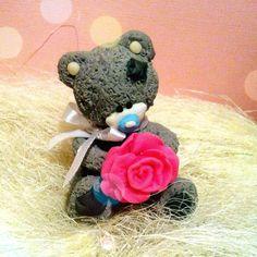 Мишка тедди выполнен из полимерной глины