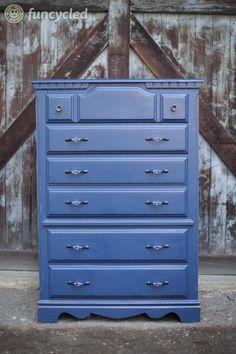 Repurposed Navy Blue Dresser By Funcycled Www
