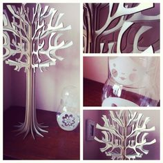 A gorgeous laser cut plywood pear tree, in six parts. So much fun to piece back together by sliding all the pieces until they combine into an awesome tree of many purposes. You'll love seeing these lovely branches in your room, either holding up your little notes, jewellery, or anything else your creativity can come up with. It stands 49cm tall, and each branch is 2.5mm thick.