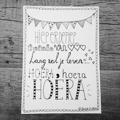 hand lettering w/ doodles Hand Lettering Alphabet, Doodle Lettering, Brush Lettering, Happy Birthday Book, Birthday Cards, Birthday Quotes, Doodle Drawing, Hand Lettering For Beginners, Hand Type