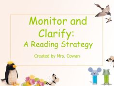 monitor-and-clarify by Christine Snyder via Slideshare