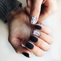 Spring Nail Art 2018: Cute Spring Nail Designs Ideas | LadyLife #Springnails #blacknails