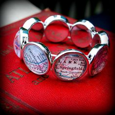 8City Map Stretch Bracelet  You Pick by DaisyMaeDesignsShop, $30.00