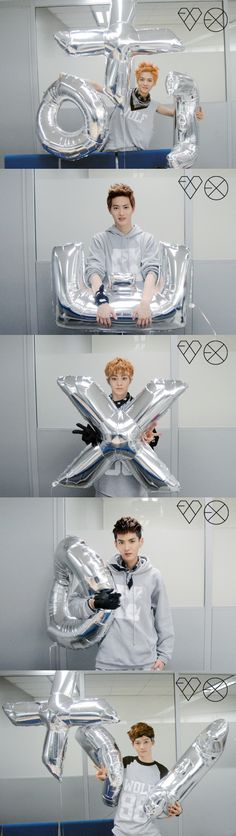keke it took me a while to notice that these balloons has E.X.O on them~ keke well happy me~ keke i wanna have these balloons!