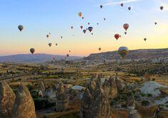 Sunrise in Cappadocia. #travel #adventure #sunrise #wanderlust #hotairballoons #cappadokia #turkey
