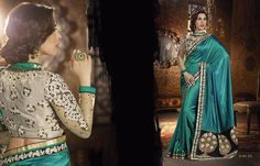 all types Buy Sophie Choudry Sarees Online buy best price at Maysha Fashion Sophie Choudry, Bollywood Party, Wedding Sari, Work Sarees, Traditional Sarees, Green Satin, Party Wear Sarees, Green Fabric, Looking Gorgeous