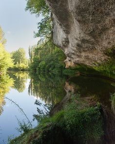 Vezere River at La Roque St.-Christophe, Perigord, France