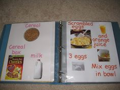 "Learn to Read Recipe Book - Love this idea (plus, this means my cookbooks are ""safe!"")"