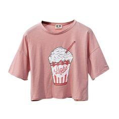 retro ice cream loose crop tops