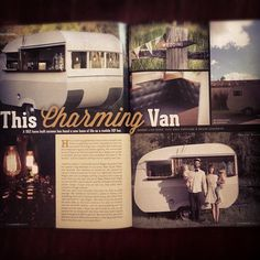 I appeared in the vintage caravan magazine!