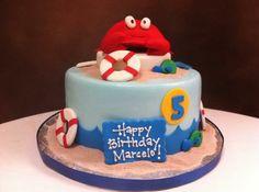 Beach themed Birthday cake.