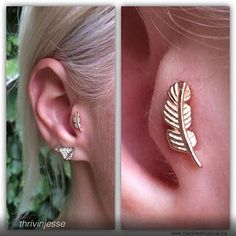 Tragus Piercing by Jesse Villemaire of Thrive Studios. Jewelry  by BVLA.