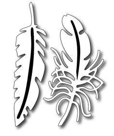 Frantic Stamper - Precision Dies - Fantastic Feathers (set of 2),$11.99