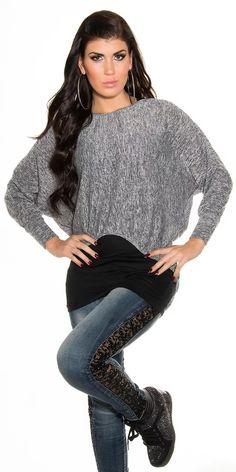 Dámský set 2v1 Turtle Neck, Pullover, Sweaters, Fashion, Tunic, Moda, Fashion Styles, Sweater, Fashion Illustrations