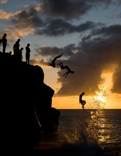 ~ jump, and you will find out how to unfold your wings as you fall ~  (waimea bay)