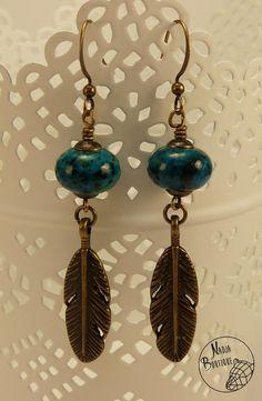 Custom exotique irisé Ring-Necked Boucles d/'oreilles plume ~ exquis!