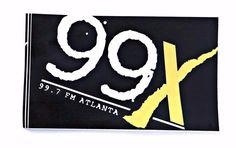 Vintage 99X WNNX Atlanta Alternative Radio Station Sticker Decal 1993  #WNNXAtlanta99X