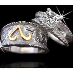 love so much western things western rings - Western Wedding Rings