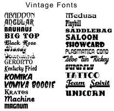 free fonts, vintage fonts, retro fonts via Bold Sparrow Vintage ...