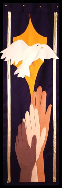 Church Banner with dove