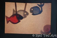 "Cereal box shadow puppet - simple to make. Some great shapes as well as some classic ""hand puppet shapes"" To explore."