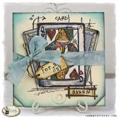 tammy tutterow: Blueprint stamp http://tammytutterow.com/2013/02/queen-for-a-day-stamp2cut-card/