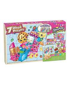 Another great find on #zulily! Shopkins™ Wood Puzzle Set #zulilyfinds
